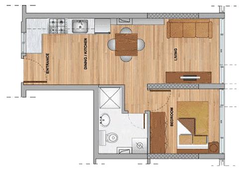 1bedroom residences